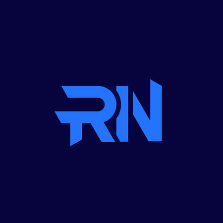 RN letters logo design, vector