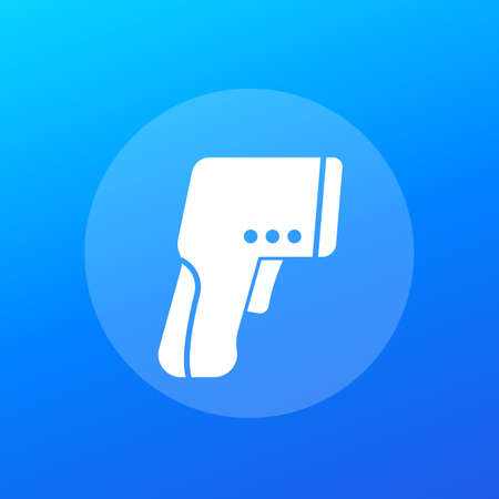 infrared thermometer gun icon, vector