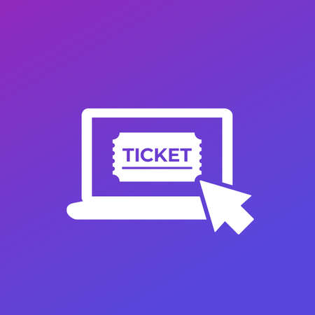 buy tickets online icon for web Illustration