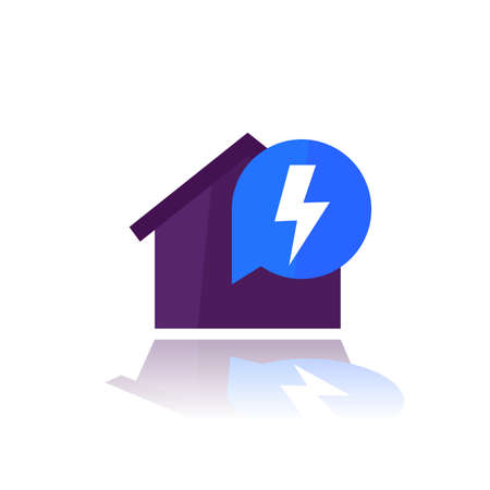 electricity in house vector flat icon