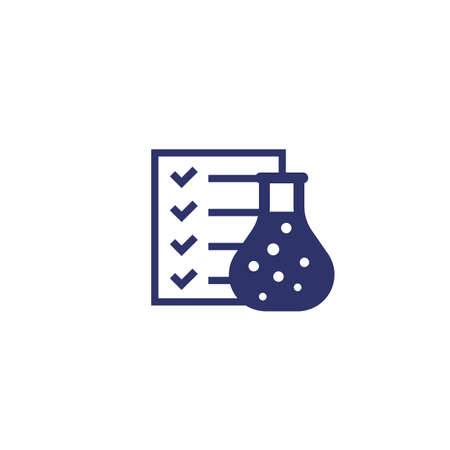 lab test results icon on white