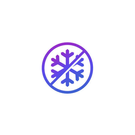 no frost icon with snowflake