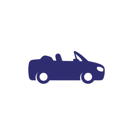 cabriolet car icon on white Illustration