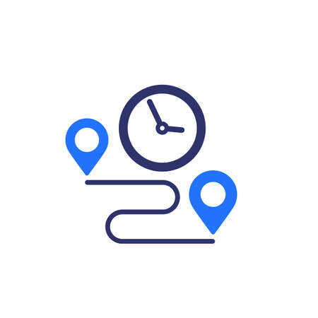 delivery time icon on white Illustration
