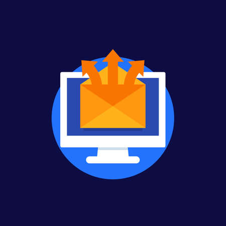 email service, mail distribution vector icon