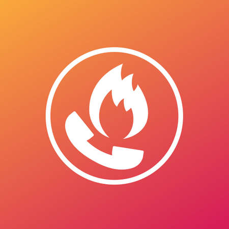 fire phone, emergency call icon Illustration