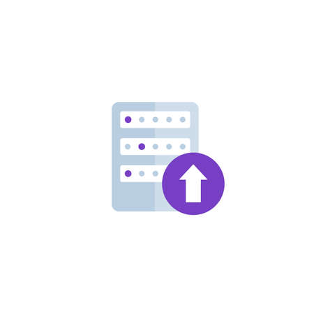 upload to server, vector flat icon Illustration