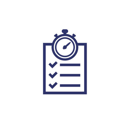 chronometer, timer and checklist icon Illustration