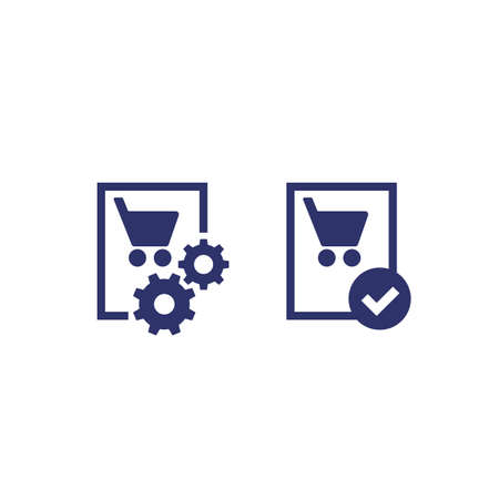 order, purchase processing, finished icon Illustration