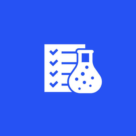 lab test results vector icon Illustration