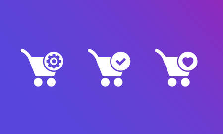 order processing, complete, add to favorites vector icons