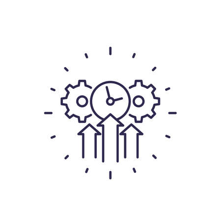 efficiency, efficient growth line icon