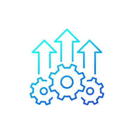 efficiency growth icon, line vector Vektoros illusztráció