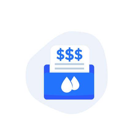 water utility bills icon, vector art