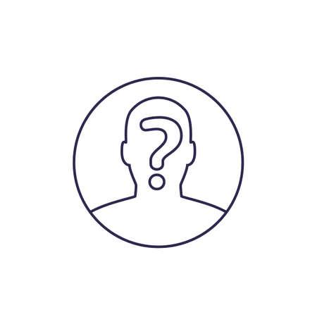unknown person, hidden identity icon, line
