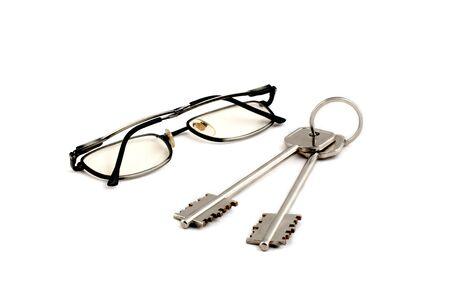 doctor holding gift: glasses key