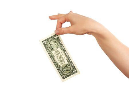hand with dollar  as sign of success photo