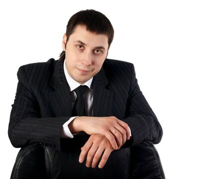 young businesman in black dress with white tshirt Stock Photo - 6003851