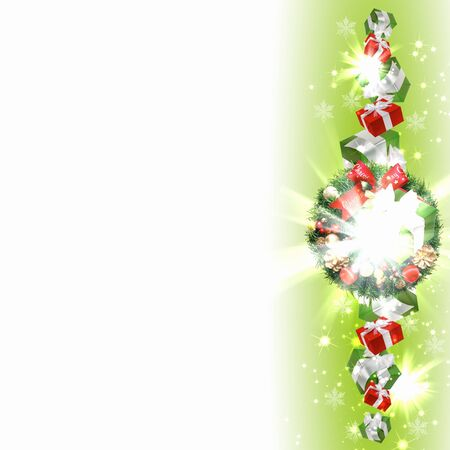New Year and Christmas decoration against white background photo