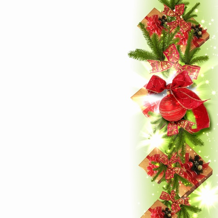 Illustration of background with traditional Christmas decoration ornament illustration