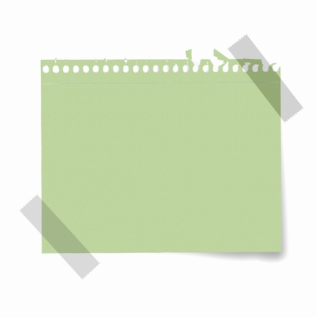Sheet of blank paper for notes against white background photo
