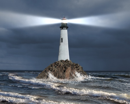 Image of a lighthouse with a strong beam of light Stock Photo - 11845660