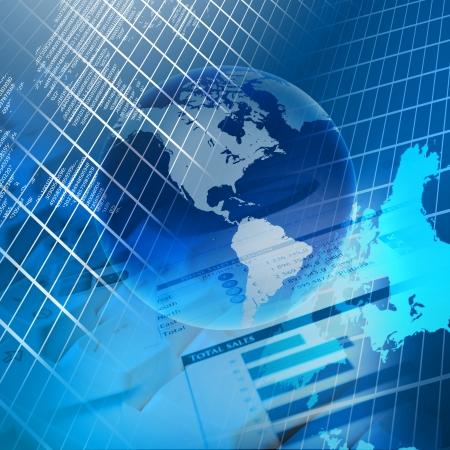 economia: Global cartas de colores financieros e ilustraci�n gr�ficos
