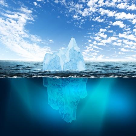 Antarctic iceberg in the ocean  Beautiful polar sea background