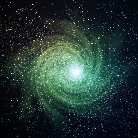 Image de la galaxie rougeoyante noir de l'espace et les étoiles