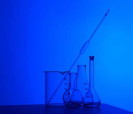 Image of chemistry laboratory equipment and glass tubes Stock Photo - 12561562
