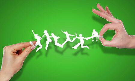coordination: Human figures and symbols of social communication