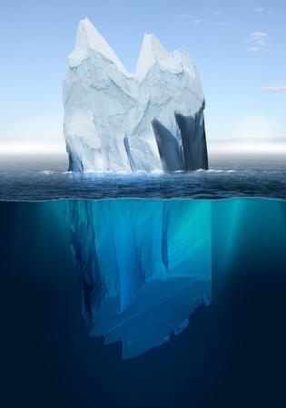 빙산: 바다 아름다운 북극 바다 배경에서 남극 빙산