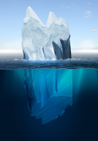 undersea: Antarctic iceberg in the ocean  Beautiful polar sea background