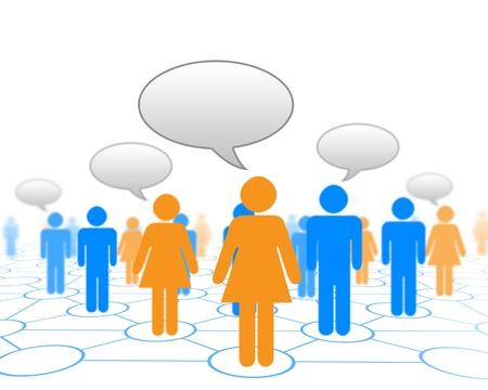 global problem: Modelos humanos conectadas entre s� en un patr�n de red social