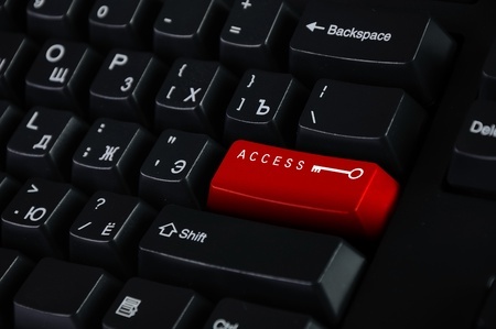 Computer keyboard with access symbol on it Stock Photo - 12739085