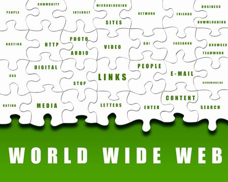 pieces of puzzle with Internet words on it Stock Photo - 12804535