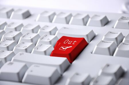 Computer keyboard with word out on it Stock Photo - 12923909