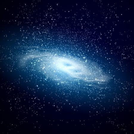 the universe: Imagen de la galaxia brilla intensamente contra el espacio en negro y las estrellas