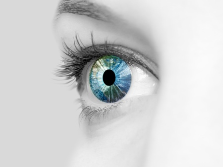 Picture of a female human eye in colour Stock Photo - 12992631