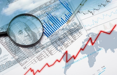 Collage of financial and business charts and graphs Stock Photo - 13032567