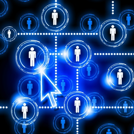 human figures as a symbol of social network Stock Photo - 13149825
