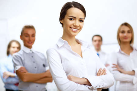 Group of successful young business persons together Stock Photo - 13085582