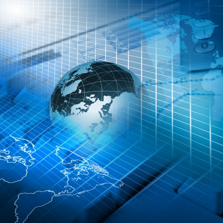 global market: Global financial color charts and graphs illustration Stock Photo