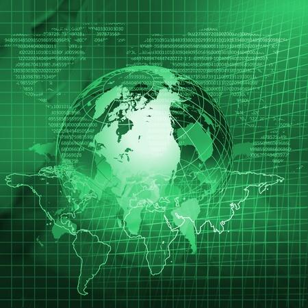 Global financial color charts and graphs illustration illustration