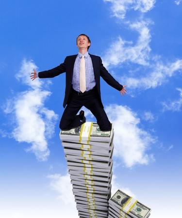 Collage auf Wirtschaft und Geld Thema mit Währungssymbol