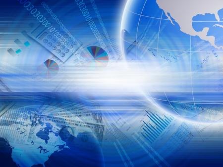 Mondiales nuanciers financiers et illustrations graphiques