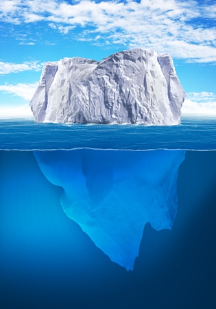 floe: Antarctic iceberg in the ocean  Beautiful polar sea background