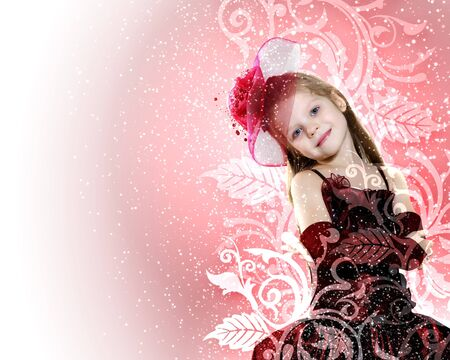 Little girl dressed up in beautiful holiday dress Stock Photo - 13231787