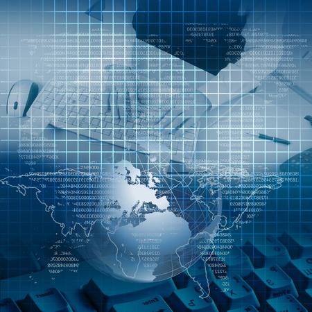 Farbe Collage mit Finanz-und Business Diagramme und Grafiken