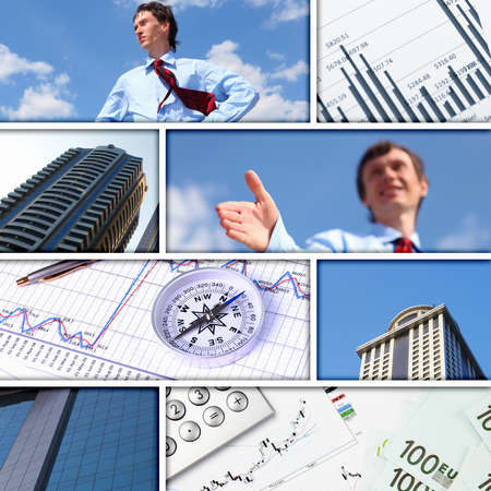 Collage of financial and business charts and graphs Stock Photo - 13307270